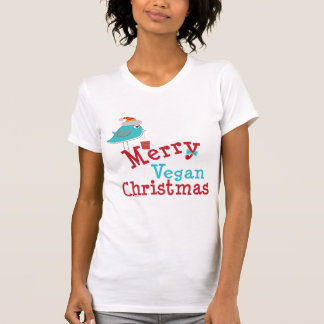 Felices Navidad del vegano Playera