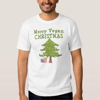 Felices Navidad del vegano Playeras