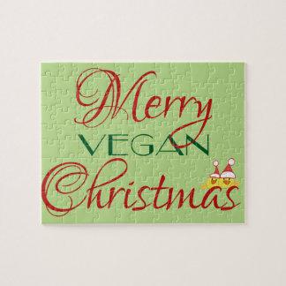 Felices Navidad del vegano Puzzle Con Fotos