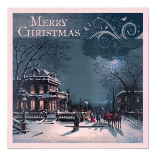 Felices Navidad del vintage Anuncio