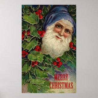 Felices Navidad del vintage Impresiones