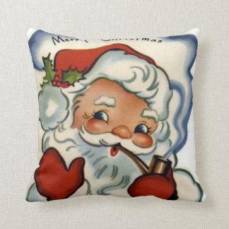 Felices Navidad del vintage, retro, rústico, Cojín
