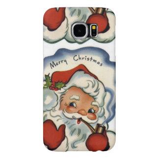 Felices Navidad del vintage, retro, rústico, Fundas Samsung Galaxy S6