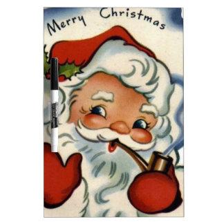 Felices Navidad del vintage, retro, rústico, Pizarras Blancas De Calidad