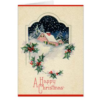 Felices Navidad del vintage Tarjeta De Felicitación