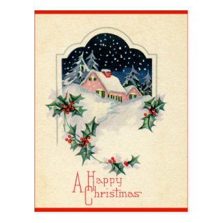 Felices Navidad del vintage Postales