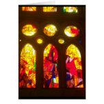 Felices Navidad del vitral Tarjeta De Felicitación