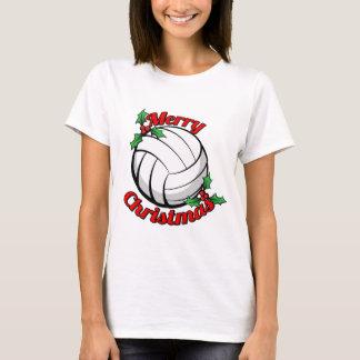 Felices Navidad del voleibol Playera