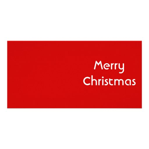 Felices Navidad. Diseño simple. Personalizado blan Tarjetas Fotográficas Personalizadas