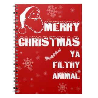 Felices Navidad divertidas Libros De Apuntes