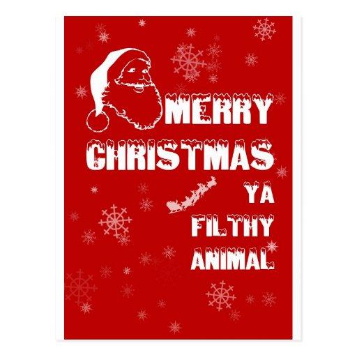 Felices Navidad divertidas Postales