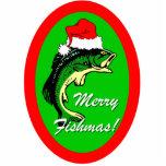 Felices Navidad divertidos de Fishmas Escultura Fotografica