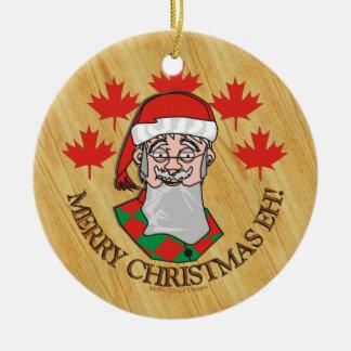 ¡Felices Navidad Eh! Adorno Redondo De Cerámica