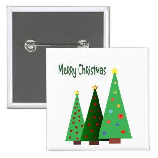 Felices Navidad El día de fiesta adornó árboles Pins