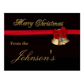 Felices Navidad elegantes Tarjeta Postal