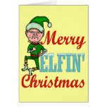 Felices Navidad Elfin divertidos Felicitaciones