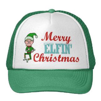 Felices Navidad Elfin divertidos Gorras