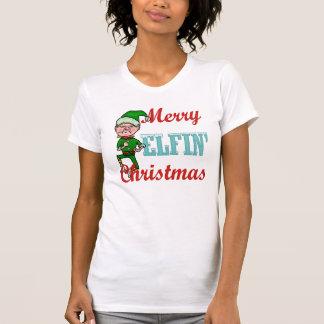 Felices Navidad Elfin divertidos Playeras