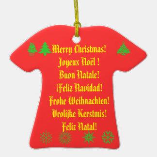 ¡Felices Navidad! en 6 idiomas Adorno