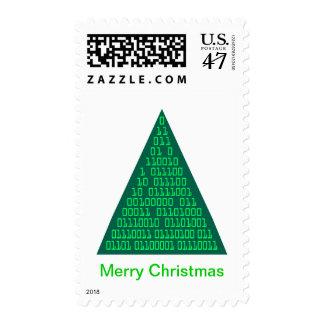 Felices Navidad en binario Sellos