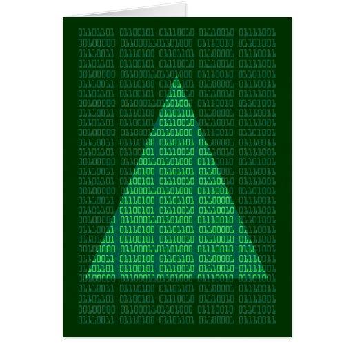 Felices Navidad en binario Tarjeta De Felicitación