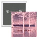 Felices Navidad en el botón del hielo Pin