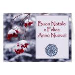 Felices Navidad en italiano Tarjeta De Felicitación
