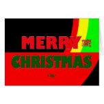 Felices Navidad en los colores de Rasta Felicitaciones