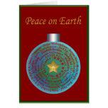 Felices Navidad en tarjeta de otros idiomas