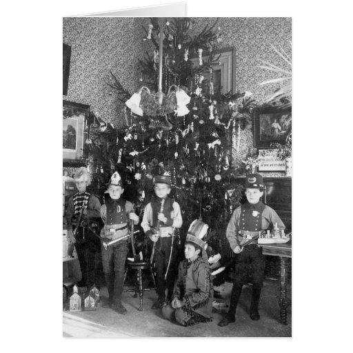 Felices Navidad en Tarrytown, 1905 Tarjeta De Felicitación