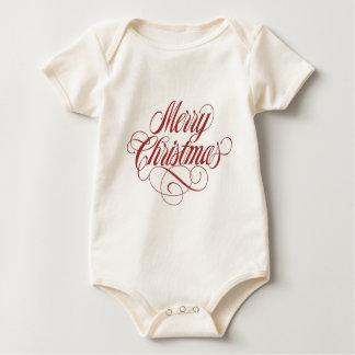 ¡Felices Navidad! Enredadera orgánica adorable Body Para Bebé