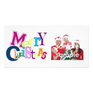 Felices Navidad enrrolladas Tarjeta Fotográfica Personalizada