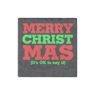 Felices Navidad - es aceptable decirlo mas de Imán De Piedra