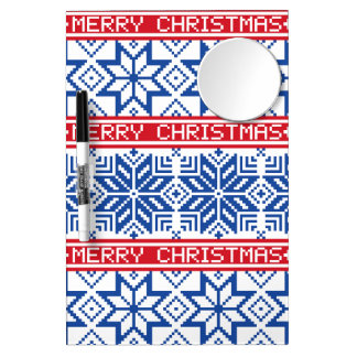 Felices Navidad escandinavas Pizarra Blanca