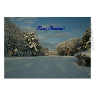 ¡Felices Navidad!  ¡Escena de la nieve! Tarjeta De Felicitación
