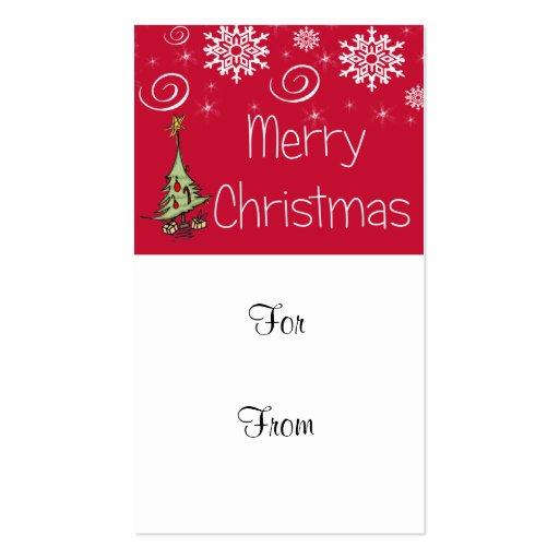 Felices Navidad especiales Tarjetas De Visita