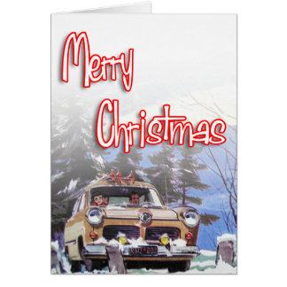 Felices Navidad - estilo retro Tarjetón