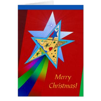 Felices Navidad estrella fugaz Tarjeton