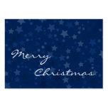 Felices Navidad - estrellas - tarjeta de visita