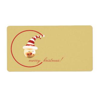 ¡Felices Navidad! Etiqueta De Envío