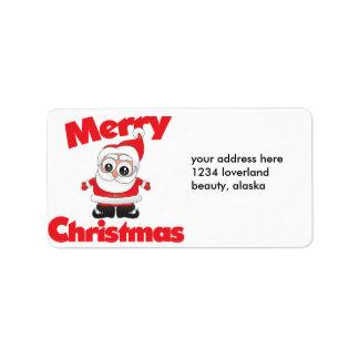 Felices Navidad Etiqueta De Dirección