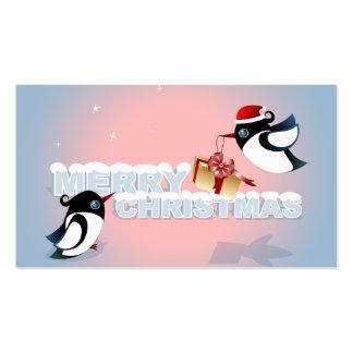 Felices Navidad - etiqueta linda del regalo del Tarjetas De Visita