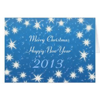 ¡Felices Navidad! Feliz Año Nuevo 2013 Tarjeta De Felicitación