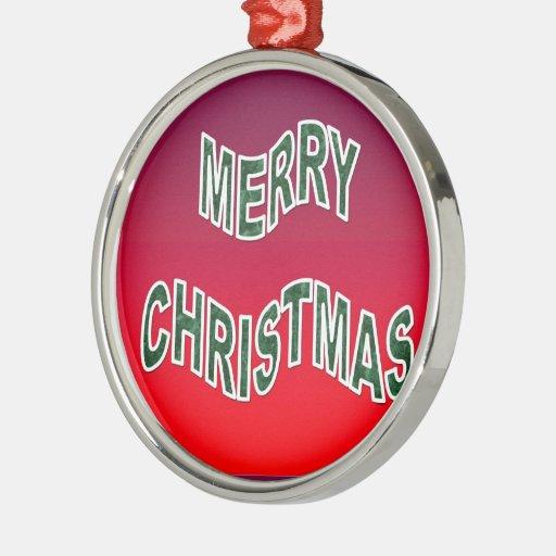 Felices Navidad festivas Adorno Redondo Plateado