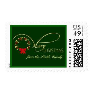 Felices Navidad - franqueo personalizado elegante