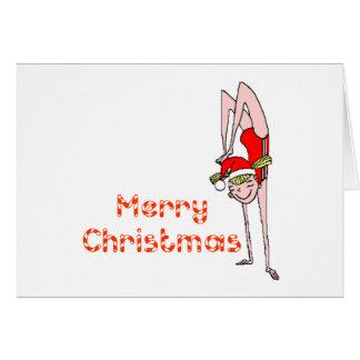 Felices Navidad gimnásticas Tarjetón