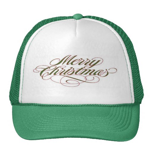¡Felices Navidad! Gorra de la malla del camionero
