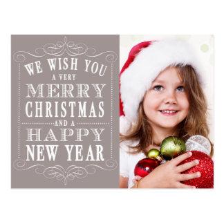Felices Navidad grises, foto de la Feliz Año Nuevo Postales