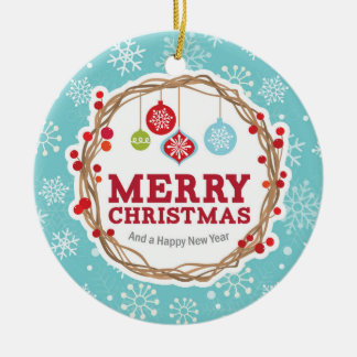 Felices Navidad, guirnalda, modelo de los copos de Ornamento Para Reyes Magos