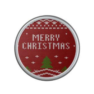 Felices Navidad, haciendo punto, modelo, verde, Altavoz Con Bluetooth